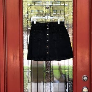 BDG Urban Outfitters Black Denim Mini Skirt